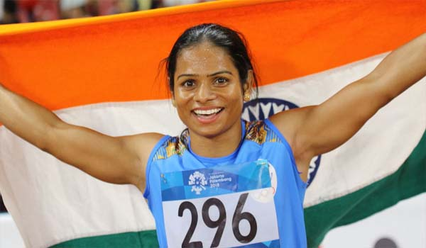 Dutee Chand Set up a new National Record 11.22 seconds