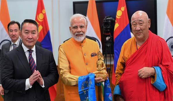 Prime Minister Modi inaugurated Lord Buddha statue at Gandan Monastery