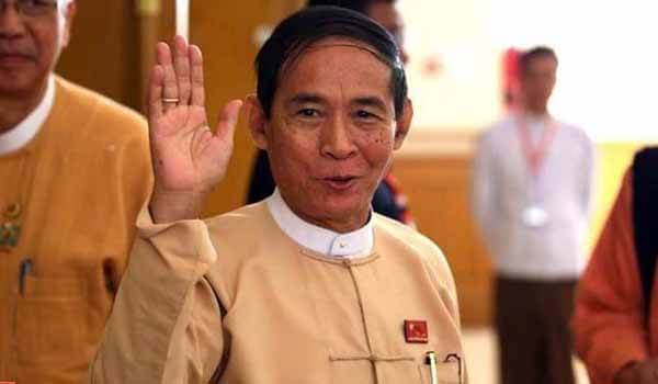Win Myint- Myanmar President Four-days Visit To India