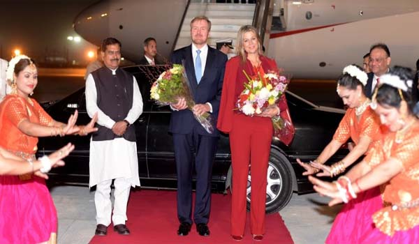 Netherlands King & Queen Arrived in India on 5-day visit