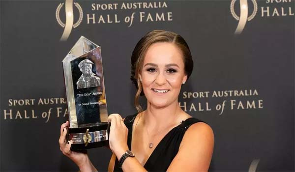 Australian player Ashleigh Barty awarded 'The Don' award