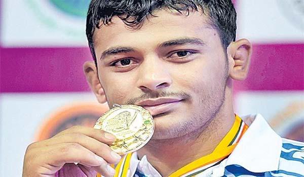 Deepak Punia won a Gold at Junior World Champion