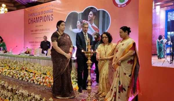 WCD Minister Smriti Irani released 'Chronicles of Change Champions' book
