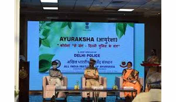 AYURAKSHA - Corona Se Jung Delhi Police Ke Sang launched today