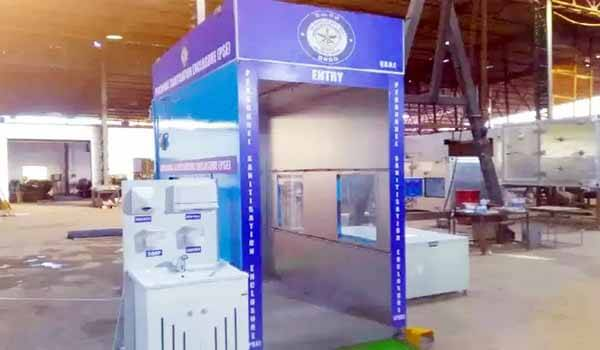 DRDO VRDE Ahmednagar Laboratory designed disinfection chamber