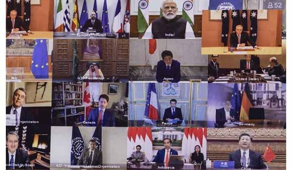 G20 Nation leaders attend Summit via video conferencing