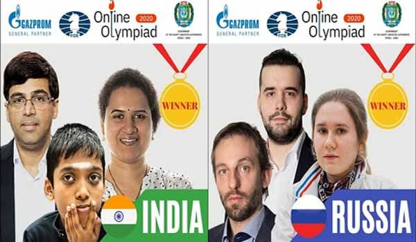 India & Russia jointly won 2020 FIDE Chess Olympiad