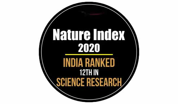 India secured 12th rank in the 2020 Nature Index