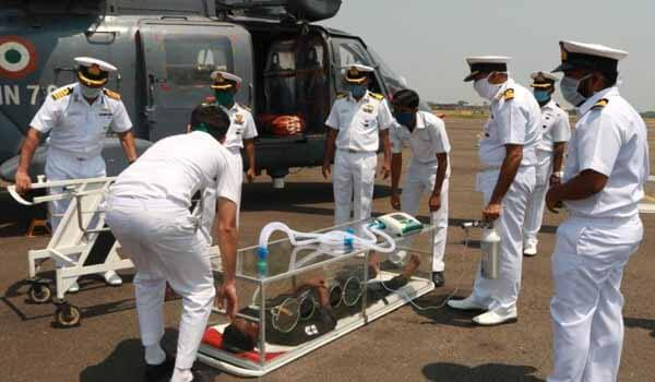 Indian Navy launched 'Air Evacuation Pod' for Coronavirus patients