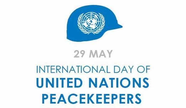 International Day of UN Peacekeepers celebrated on 29th May Each year
