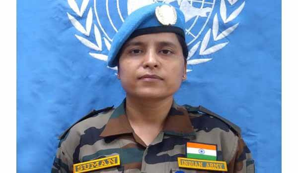 Major Suman Gawani awarded with UN Military Gender Advocate Award