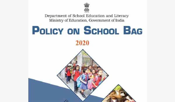Ministry of Education release 'Policy On School Bag 2020'