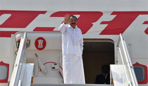VP M. Venkaiah Naidu departs for a two-nation visit
