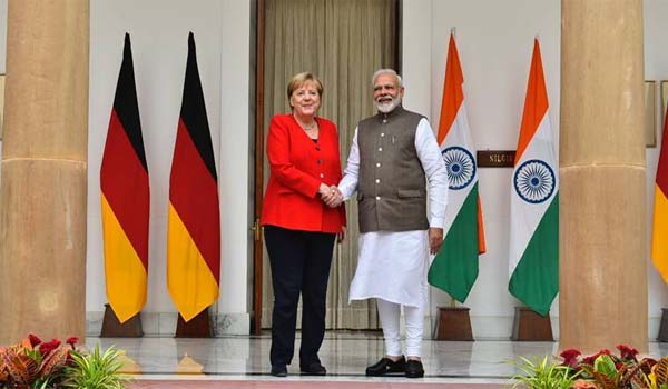 Prime Minister Modi & Angela Merkel chaired 5th Indo-German Intergovernmental talks