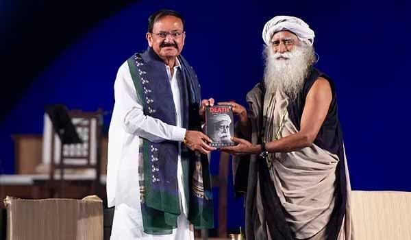 Vice-President released Jaggi Vasudev book 'Death: An Inside Story'