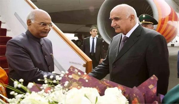 President R.N. Kovind in Tajikistan on a 3-day visit
